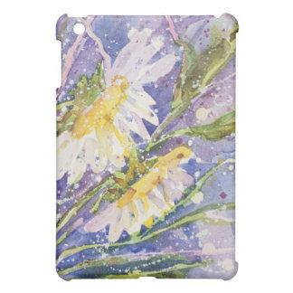 デイジーの水彩画のiPadの場合 iPad Miniケース