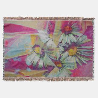 デイジーの花の絵画のブランケット スローブランケット