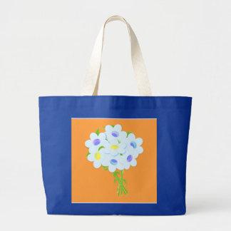 デイジーの花の花束 ラージトートバッグ