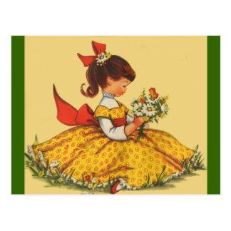 デイジーの花束 ポストカード