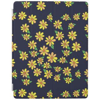 デイジーの花柄パターン iPadスマートカバー