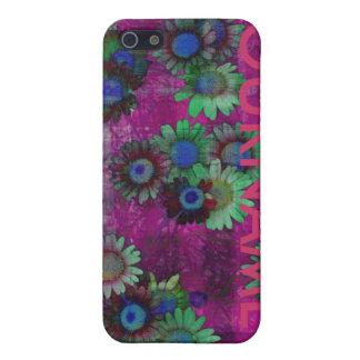 デイジーの花模様のYourNameの場合 iPhone 5 ケース