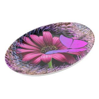 デイジーの蝶 磁器大皿