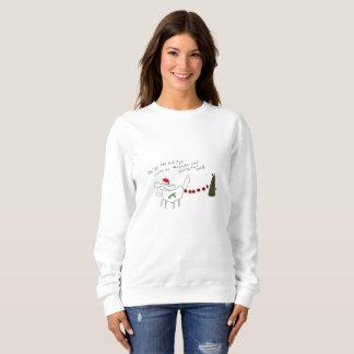 デイジーシーズー(犬)のtzuの女性クリスマスのスエットシャツ スウェットシャツ