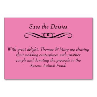 デイジー-結婚式のテーブルPlacecards --を救って下さい カード