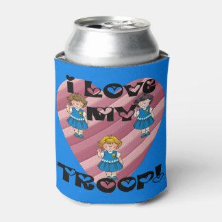 デイジーI愛私の軍隊のハート 缶クーラー