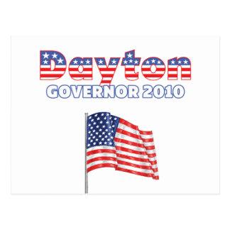 デイトンの愛国心が強い米国旗2010の選挙 ポストカード