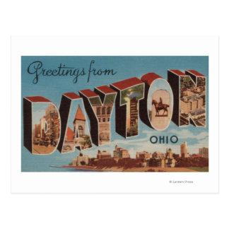 デイトンのOhioLargeの手紙ScenesDayton、オハイオ州 ポストカード