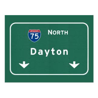 デイトンオハイオ州のoh州間幹線道路の高速道路: ポストカード