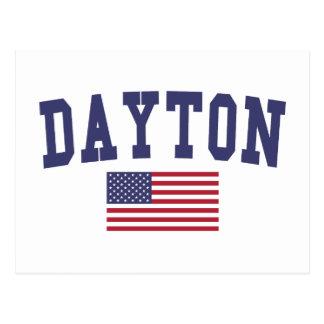 デイトン米国の旗 ポストカード