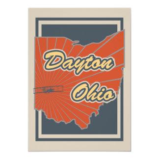 デイトン、オハイオ州の芸術のプリント-旅行アートワーク カード
