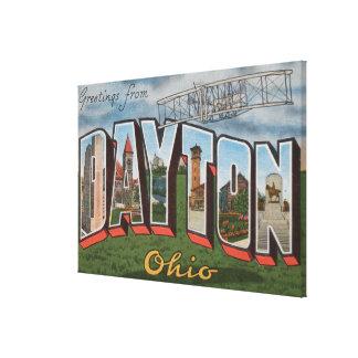 デイトン、オハイオ州(ライト兄弟の飛行機) キャンバスプリント