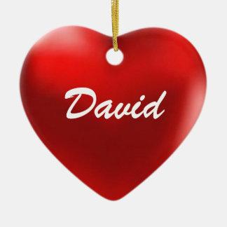 デイヴィッドのオーナメントのハート セラミックオーナメント