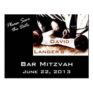 デイヴィッドのバーの(ユダヤ教の)バル・ミツバーの男の子の郵便はがき ポストカード