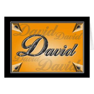 デイヴィッドのメッセージカード カード