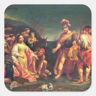 デイヴィッドの前のアビゲイルの提供 スクエアシール