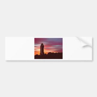 デイヴィッドの年長者によるBraveheartの夜明け(デジタル芸術) バンパーステッカー