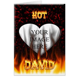 デイヴィッドの熱い火および炎の赤の大理石 カード