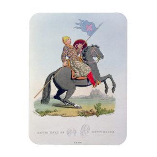 デイヴィッドのHuntingdon (1084-1153年) 1120年のengravの伯爵 マグネット