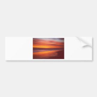 デイヴィッドアレキサンダーの年長者によるこはく色の海岸(デジタル芸術) バンパーステッカー