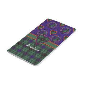 デイヴィッドソンの一族の格子縞のスコットランド人のタータンチェック ポケットジャーナル