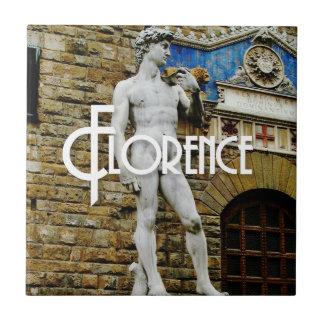 デイヴィッドフィレンツェイタリア旅行写真のタイルの彫像 タイル