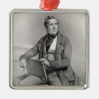 デイヴィッドロバーツの(1796-1864年の) frontispieceのポートレート メタルオーナメント