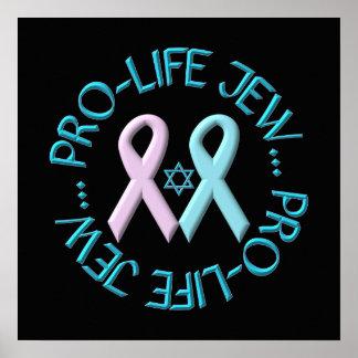 """デイヴィッド及びリボンの""""妊娠中絶反対のユダヤ人"""" w/Star ポスター"""