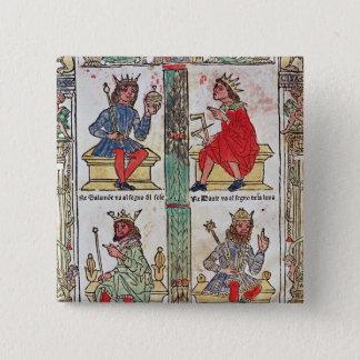 デイヴィッド、Solomon、ルーバ語およびTurnis王 5.1cm 正方形バッジ