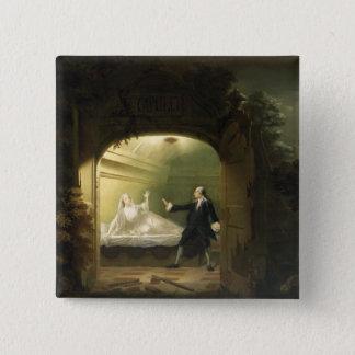 デイヴィッドGarrick (1717-79年)およびジョージアンBellamy ( 5.1cm 正方形バッジ