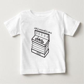 デイヴィッドMunnellyバンドアコーディオンのロゴの乳児のワイシャツ ベビーTシャツ