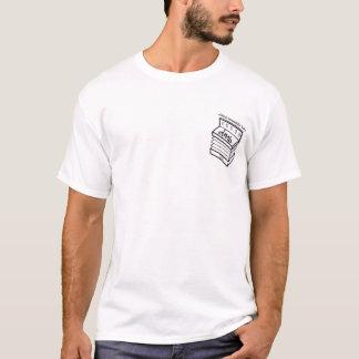 デイヴィッドMunnellyバンドアコーディオンのロゴの人の白いT Tシャツ