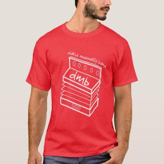 デイヴィッドMunnellyバンドアコーディオンのロゴの人の赤いT Tシャツ