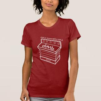 デイヴィッドMunnellyバンドアコーディオンのロゴの女性の赤いT Tシャツ