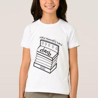 デイヴィッドMunnellyバンドアコーディオンのロゴの青年白いT Tシャツ