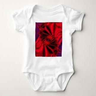 デカダンスの抽象的なフラクタルデザインの乳児のクリーパー ベビーボディスーツ