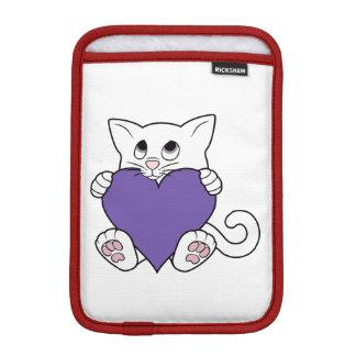 デキセドリン錠のバレンタインデーの白い猫 iPad MINIスリーブ