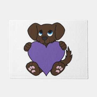 デキセドリン錠のバレンタインデーチョコレート犬 ドアマット