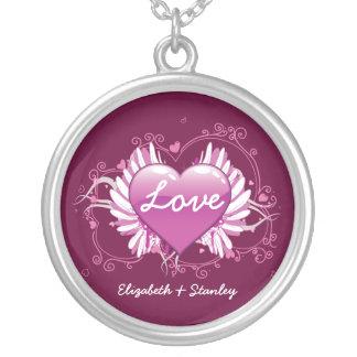 デキセドリン錠の翼愛バレンタインの銀製のペンダント シルバープレートネックレス