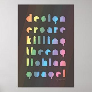 デザイナーは英語を殺しています ポスター