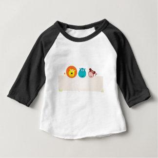 デザイナーアフリカ動物: かわいいイラストレーション ベビーTシャツ