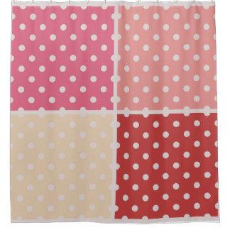 デザイナーシャワー・カーテン: 点を使って シャワーカーテン