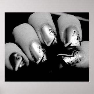 デザイナー指の爪ポスター プリント