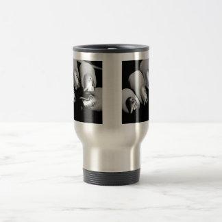 デザイナー指の爪 ステンレス製トラベルマグカップ