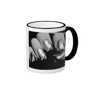 デザイナー指の爪 リンガーマグカップ