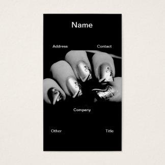 デザイナー指の爪 名刺
