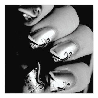デザイナー指の爪 13.3 スクエアインビテーションカード