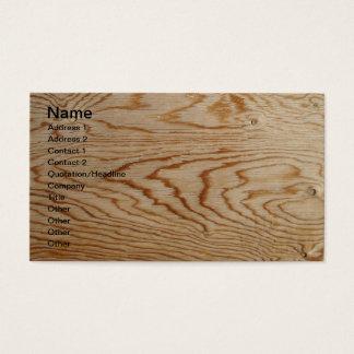 デザイナー木製の穀物の名刺 名刺
