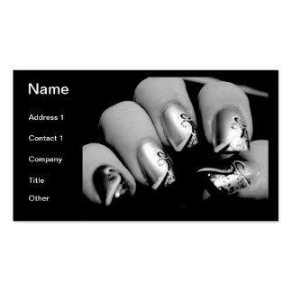 デザイナー 指の爪 スタンダード名刺