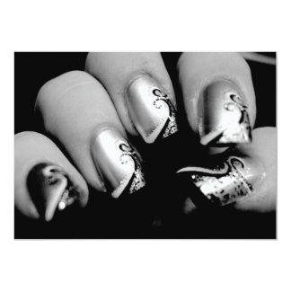 デザイナー|指の爪 12.7 X 17.8 インビテーションカード